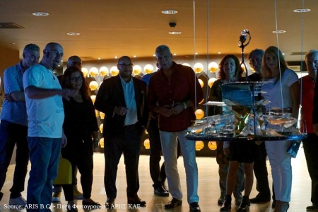 "Presentation of the sculpture ""Nikos Gkalis"""